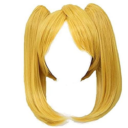 peluca de burbujas peluca rubia con flequillo colas de caballocosplay accesorios de disfraces niños niñas mujeres dorado