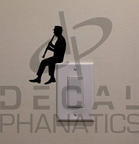 H421ld Interruptor de luz para clarinete con diseño de hombre (15,2 x 9,5 cm) – dormitorio, decoración del hogar