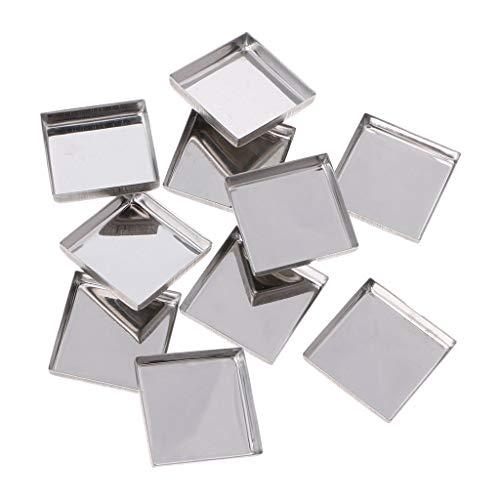 MB-LANHUA 10 pièces Palettes de Maquillage vides Palette de fards à paupières Poudre Pans Pot Storage Réactive aux aimants 3#