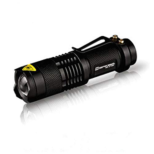 Mini-Zoom-Taschenlampe führte Bright High-Light Long-Range Fokus Q5 Flashlight 3-Speed Dimming