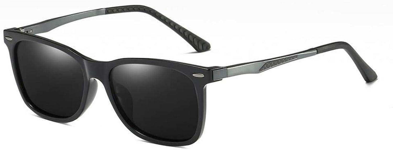 AAMOUSE Sunglasses Mirror Polarized Sunglasses Men Lens bluee Matte BlackSunglasses for Men, Driving UV400 Goggles