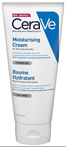 Cerave Moisturising Cream, 177Ml/6Oz, Daily Face & Body Moisturiser for Dry to Very Dry Skin