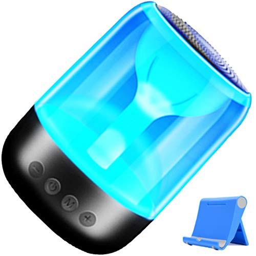 Bias&Belief Altavoz Bluetooth LED, Altavoces HiFi Inalámbricos Portátiles con Luz Nocturna Colorida, Llamada Manos Libres, Conexión TWS, Batería de 1000mAh, Adecuado para El Hogar/Fiesta