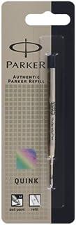 Parker QuinkflowインクRefill forボールペンペン, Medium Point,ブラック(3031631pp)