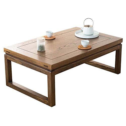 Kaidanwang Hermosamente Mesilla Tabla Final Mesa de café Dormitorio Mirador Tabla Japonesa pequeña Mesa de Madera Maciza Mesa Baja.(Color: Marrón, tamaño: 60 * 40 * 30 cm) (Size : XL)