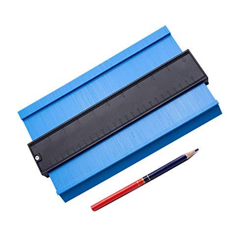型取りゲージ コンターゲージ 257mm 測定ゲージ 測定工具 不規則 曲線定規 目盛付き 高精度 1本鉛筆付き Lefon
