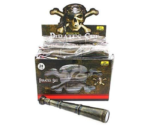 Schnooridoo 6 x Fernrohr Pirat 20 cm Piraten Seeräuber Schatzsuche Mitgebsel Kindergeburtstag