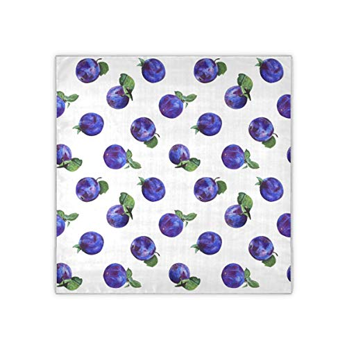 Blue Plum Snack Food Dried Fruit Hair Scarves For Women...