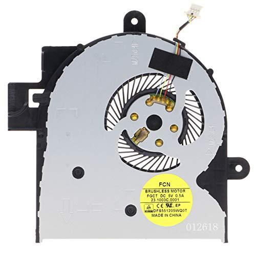 TRADOCK Ventilador de CPU para HP Envy X360 M6-W 15-W 15T-W 15-BK 807524-001