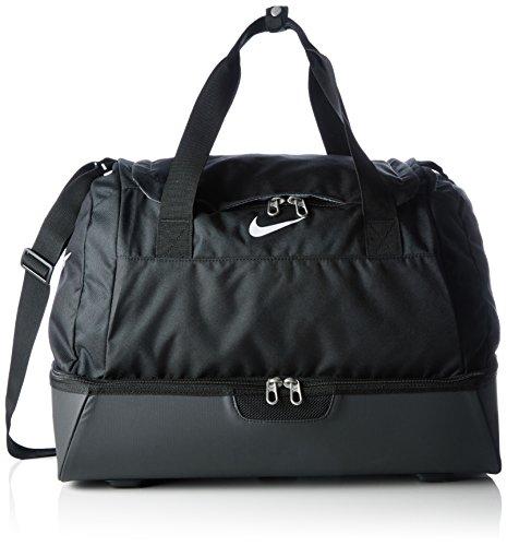 Nike Club Team Swoosh Hardcase M - Bolsa de deporte, 47 cm, 45 litros, Negro