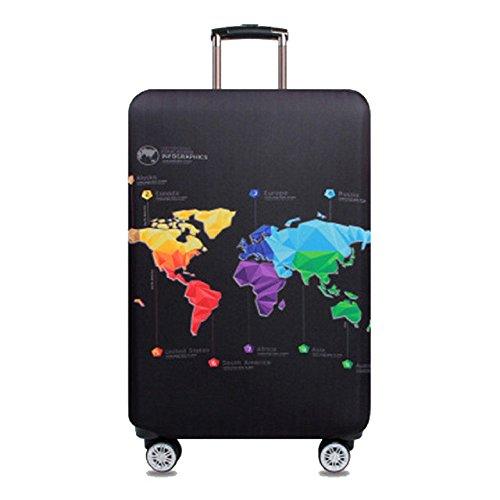 Cubierta de equipaje Funda de maleta 18-32 pulgadas de fibra de carbón de bambú cubierta de equipaje Poliéster equipaje de viaje cubierta de la caja protectora (color 6, M)