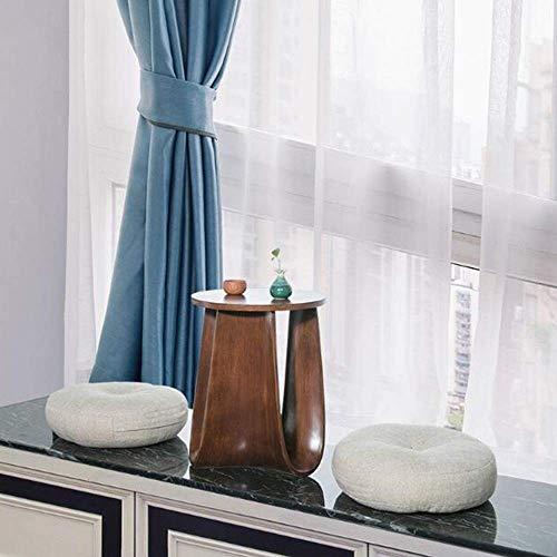NBVCX Decoración de Muebles Mesa de Centro Moderna Sala de Estar Dormitorio Balcón Ocio Computadora Mesa de té Mesa Auxiliar Sofá Mesa Auxiliar Color de Madera 25.5 * 29cm