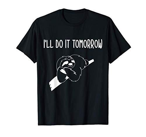 Schlafshirt Nachthemd Schlafanzug Pyjama Faultier Geschenk T-Shirt