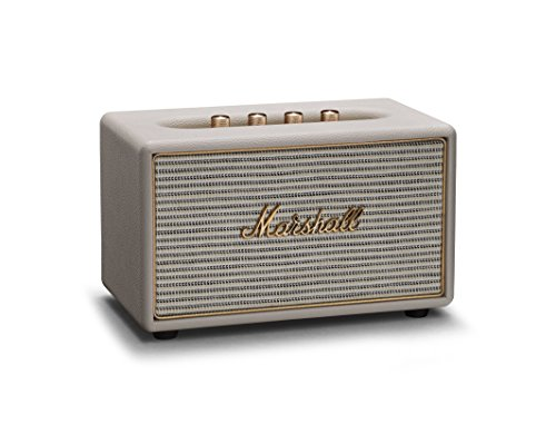 Marshall Acton Wireless Multi-Room Wi-Fi and Bluetooth Speaker, Cream (04091913)