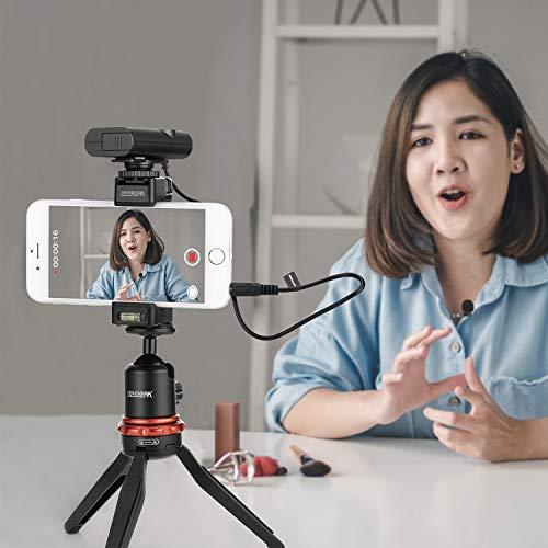 Kabelloses Lavalier-Mikrofon Vlog für DSLR-Kamera Smartphone, BOYA Revers-Mikrofonsystem für Canon Nikon-Kamera iOS Android Mobiler Audiorecorder YouTube Facebook Live-Podcast (K2)