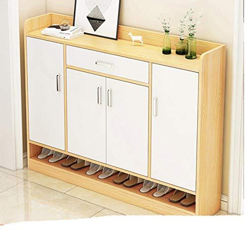 Muebles para el hogar Zapateros de m¨²ltiples capas Sala de estar Pasillo Gabinete de almacenamiento Dormitorio Balc¨n Zapato O-blanco 1 120x30x90CM
