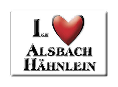 Enjoymagnets ALSBACH HÄHNLEIN (HE) Souvenir Deutschland Hessen Fridge Magnet KÜHLSCHRANK Magnet ICH Liebe I Love
