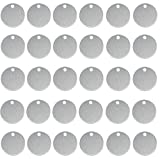 ABBECIAO Stamping Blanks, Hand Personalized Pet Dog ID Tags Stamped Blanks Aluminum Tags with Hole, 0.06 Inch Thick 50 Pack