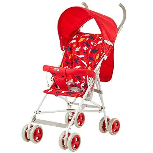 N/ A Landau et Poussette pour Tout-Petits Système de Voyage léger et Confortable pour bébé 0-3 Ans Fille Rouge