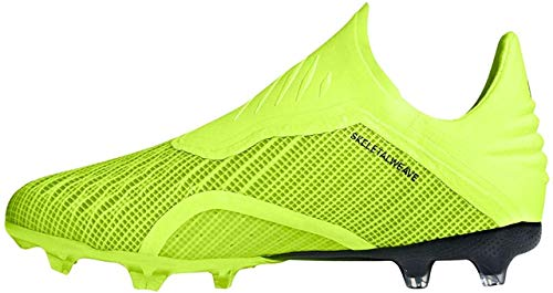 adidas X 18+ FG, Zapatillas de Fútbol Unisex Niños, Amarillo (Colores/Cblack/Ftwwht Colores/Cblack/Ftwwht), 30 EU