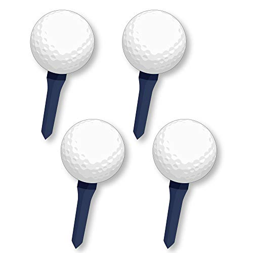 Big Dot of Happiness Par-Tee Time - Golf Fundraising - Spirit Cheer Gear - Fan Sports Swag Paddles - Set of 4