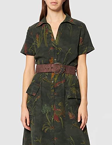 Desigual Vest_Amsterdam Vestido Casual, Verde, XL para Mujer