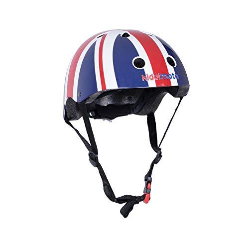 Kiddimoto Fahrrad Helm für Kinder - CE-Zertifizierung Fahrradhelm - Design Sport Helm für skates, roller, scooter, laufrad - Union Jack - M (53-58cm)
