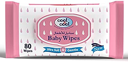 Cool & Cool Baby Wipes, Regular 80 Wipes, Pack of 1