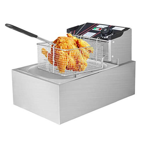 Novhome 6L Deep Fat Fryer 2500W Thicken Stainless Steel Easy Clean Single...