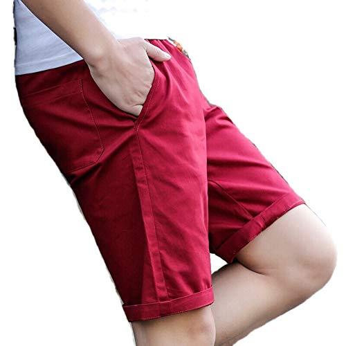 [スミドレン] ハーフパンツ メンズ 短パン ショートパンツ ハーパン 半ズボン パンツ ズボン ボトム ボトムス ハーフ スポーツ 部屋着 綿 大きい ジャージ バスケット 大きいサイズ おおきいサイズ アクティブ ランニング ゆったり 7分丈 7分 11way トレーニング 5l ラージ 通勤 着やせ サッカー 下 (レッド,XL)