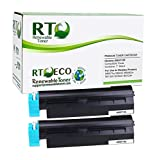 Renewable Toner Compatible Toner Cartridge High Yield Replacement for Okidata 45807105 MB and Oki B B412dn B432dn B512dn MB472w MB492 MB562w (Pack of 2)