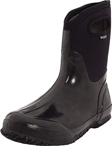 BOGS Classic Mid Boot - Women's Black Shiny 10
