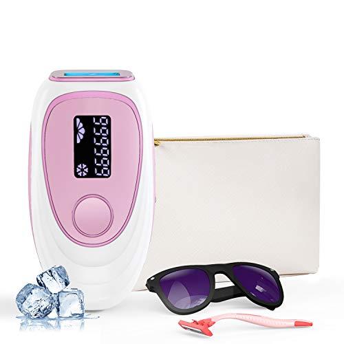 IPL Depiladora de luz pulsada 999,999 flashes, sistema de depilación permanente indoloro con punto de congelación, equipo profesional, utilizado para piernas, rostro y cuerpo