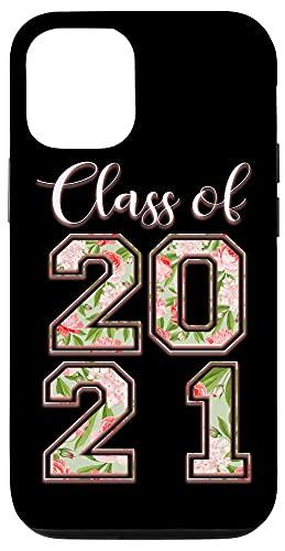 iPhone 12/12 Pro High School Class Of 2021 Floral Tee Senior Graduate Case
