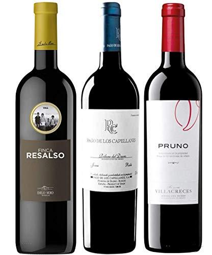 Pack MYSECRETWINE Ribera del Duero Essential. 1 Resalso, 1 Pago de los Capellanes Roble y 1 Pruno