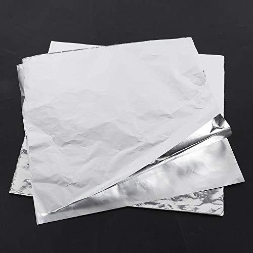 100 piezas de papel de aluminio grueso de papel de aluminio para cocinar al horno de barbacoa, resistencia a altas temperaturas, hacer que los alimentos se calienten uniformemente, 11.8 * 11.8 pulgada