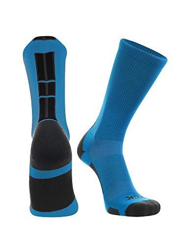 TCK Baseline 3.0 Athletic Crew Calcetines (20 colores), Azul eléctrico/Grafito/Negro, Pequeño