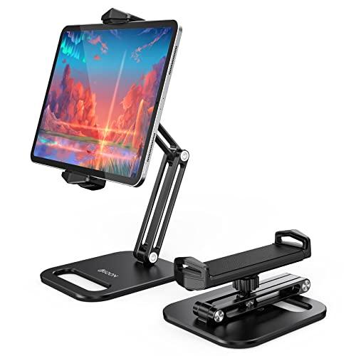 BSOON Tablet Halterung, Verstellbar Tablet Halter - Flexibler 360°-Drehung Desktop-Tablet-Ständer für iPad Pro 12.9, 11, 10.5, 10.2 , 9.7, Air, Mini, Samsung Tab, alle 4.7-13 Zoll Geräte, Schwarz