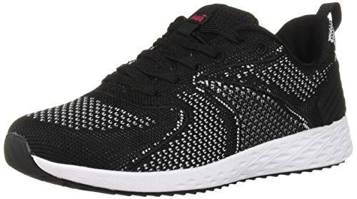 Avia Women's Avi-Waive Sneaker, Black/White/Jazzy, 8 Medium US