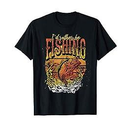 Loisir Lac Homme Pêcheur Carpe Amateur De Pêche Poisson T-Shirt