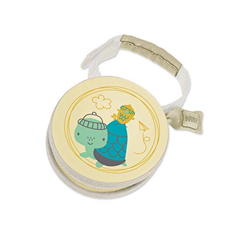 MAM Pod Schnullertasche, praktisch für die Aufbewahrung von 2 Schnullern, Schnullerbox mit Klettverschluss zur flexiblen Befestigung, Schildkröte