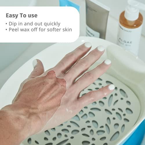 HoMedics ParaSpa Paraffin Wax Bath | Wax Warmer | Bonus 3 lb Paraffin Wax & 20 Hand Liners | Soothing Hand & Foot Spa | Moisturizing System | Hypoallergenic, Blue