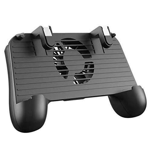 WDFDZSW Gamepad de Disparo for PUBG 4 en 1 Gamepad móvil Disparo con apuntar Disparador Joystick Fan de enfriamiento 2000mAh Potencia móvil