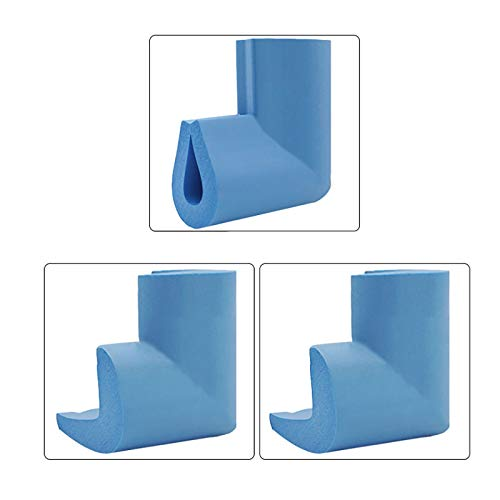KOMOSO Eckenschutz aus Schaumstoff, Kinderschutz, groß und weich, für Glas-Couchtisch, 24 Stück