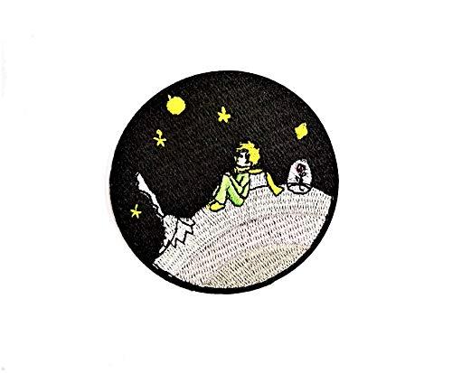 Lilie Créa - Parche bordado con diseño de El Principito en la Luna, 7 cm