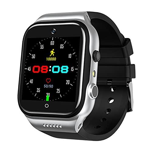 AKY 9.0 Android 4G Smart Watch Men Uomo, SIM Card Telefono Telefono WiFi Internet Smart Watch HD Videochiamata Registrazione Orologio Multifunzione,A