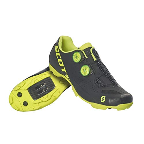 Scott MTB RC Cycling Shoe - Men's Matt Black/Gloss Neon Yellow, 42.0