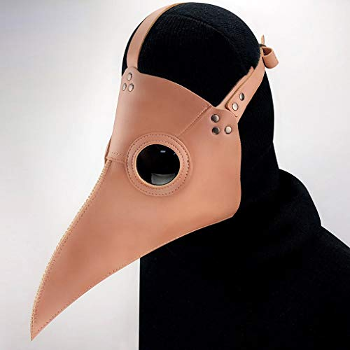 JSSFQK Animal Cospaly Plague Doctor Mask Steampunk PU Art Retro Costume Props Halloween Carnival Costume (Color : Green)