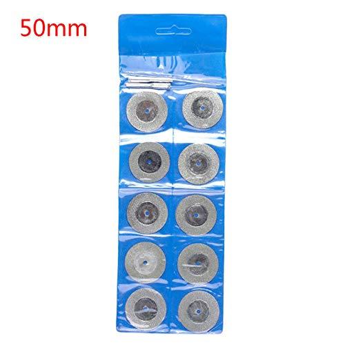 GFHDGTH 10 stks 16-50MM diamant slijpen snijden wiel schijf slijper schurende schijven met 2X aansluiten schacht voor Dremel Rotary Tools, 50MM
