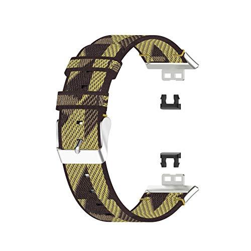 basku Correa de Reloj Compatible con Huawei Watch FIT Correa de Repuesto para Reloj Inteligente Correa de Muñeca, Correas de Lona de Liberación Rápida para Reloj